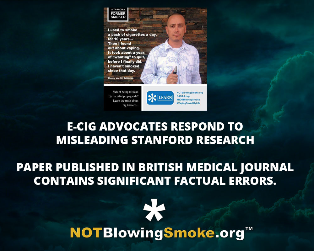 E-Cig Advocates Respond to Misleading Stanford Research